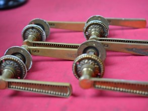5 setjes Koperen deurklinken met sleutelrozetten