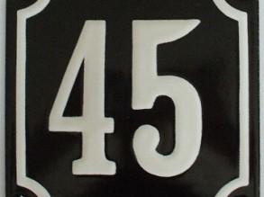 Emaille Huisnummers met diverse maten en kleuren