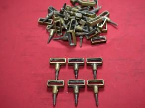35 stuks losse koperen traproeden houders