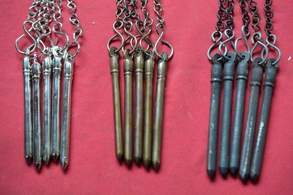 Schuifraam pennen met ketting