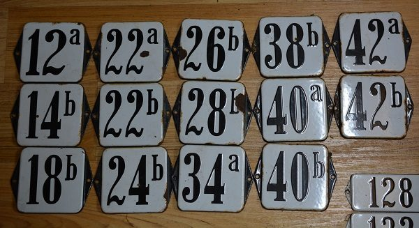 Diverse modellen emaille huisnummers
