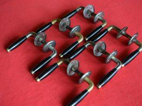 6 setjes Ton model deurklinken met ronde rozet