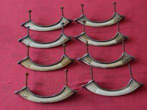 8 grepen gemaakt van been of ivoor
