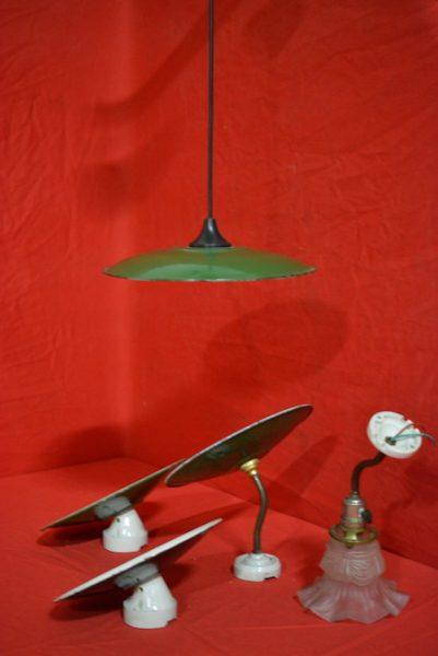 Diverse jaren'30 lampen.