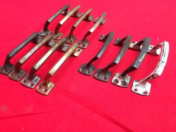 12 messing handgrepen voor schuiframen
