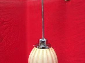 Roomwitte Jaren'30 Plafondlamp,