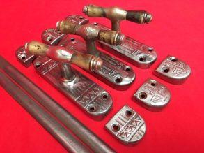 3 puntgave Art Deco espagnoletten uit de Jaren'30.